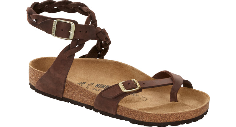 Birkenstock Yara Braid habana oiled leather