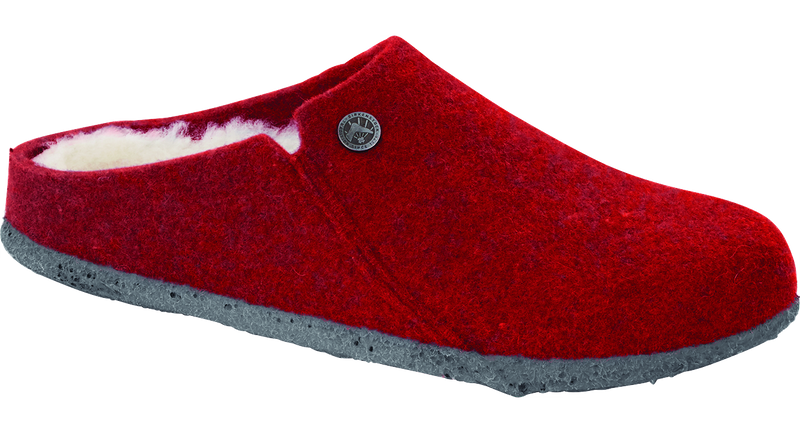 Birkenstock Zermatt red shearling wool