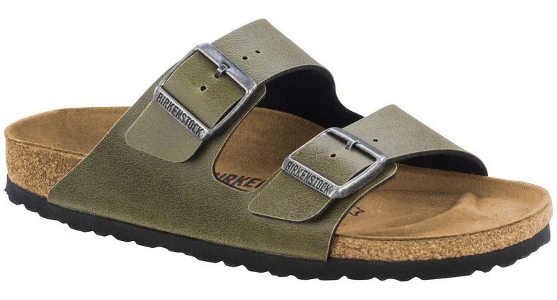 Birkenstock Arizona olive pull-up Birko-Flor