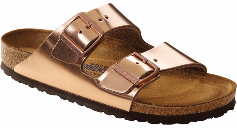 Birkenstock Arizona Soft Ftbd copper leather
