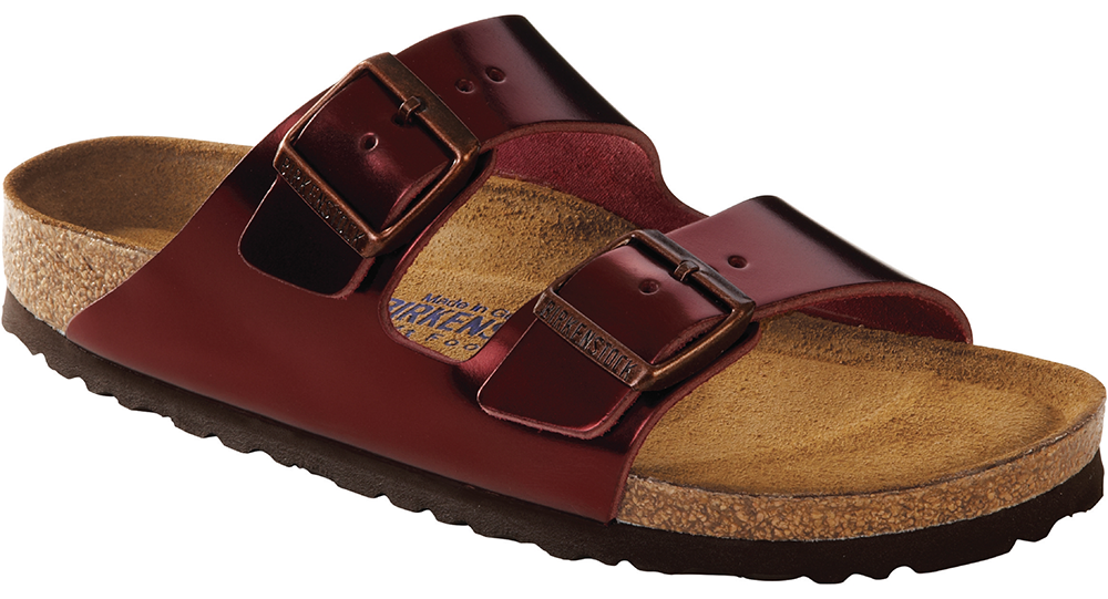 Birkenstock Arizona Soft Ftbd metallic tourmaline leather