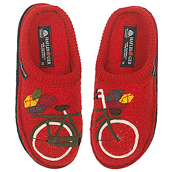 Haflinger Slipper bicycle red