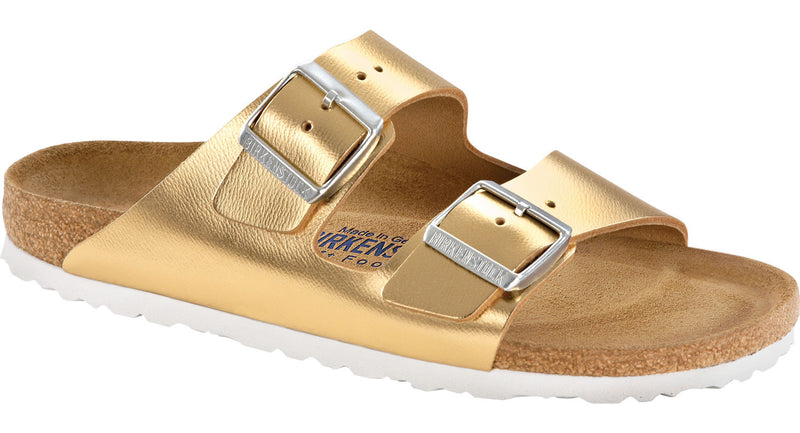 Birkenstock Arizona Soft Ftbd gold leather