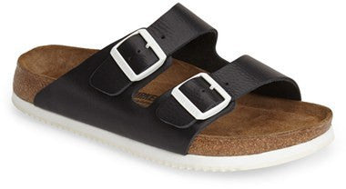 Birkenstock Arizona Soft ftbd w/ Super Grip sole black leather