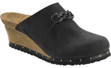 Papillio Daisy black oiled leather licensed by Birkenstock