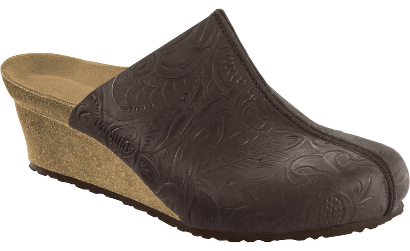 Papillio Dolores relief brown nubuck licensed by Birkenstock