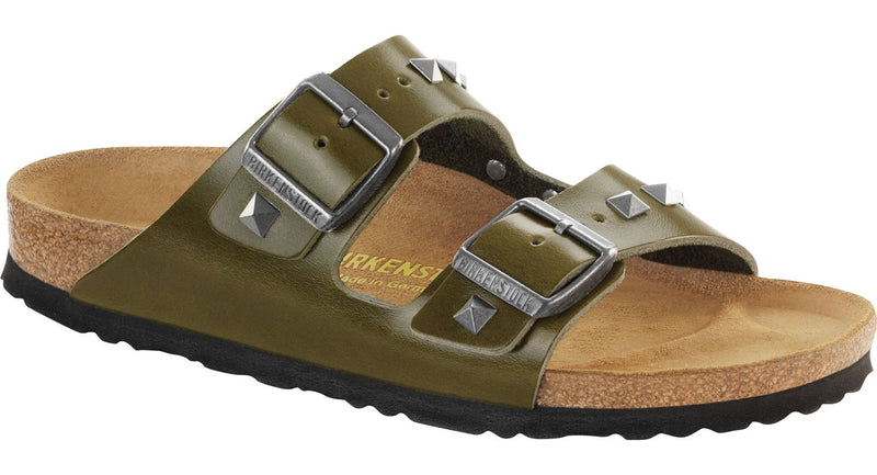 Birkenstock Arizona studded olive leather