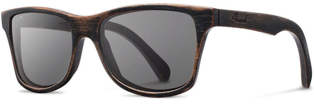 Shwood Canby Sunglasses distressed dark walnut