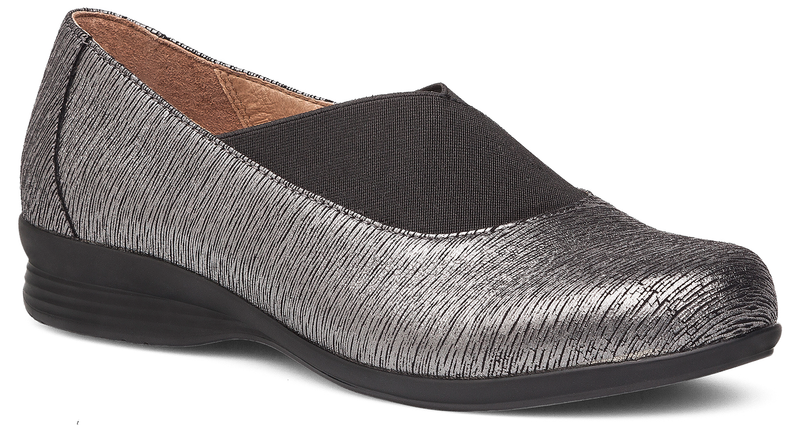 Dansko Ann pewter metallic leather