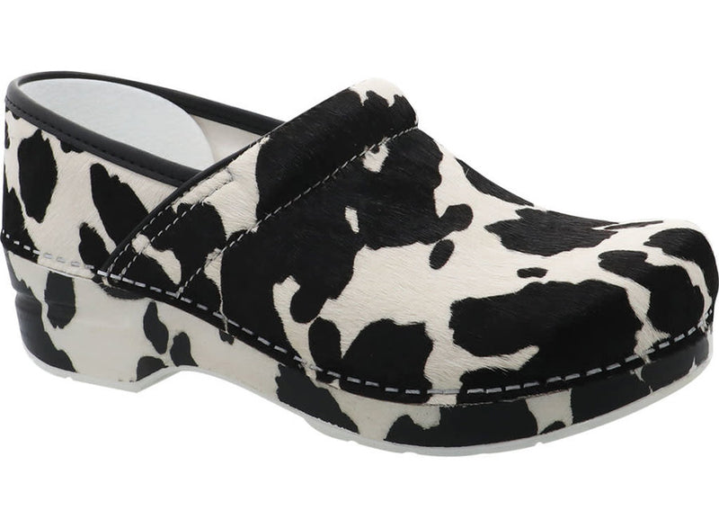 Dansko Professional cow print haircalf