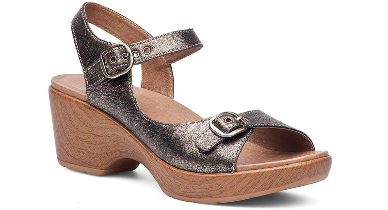 Dankso Joanie pewter burnished metallic leather