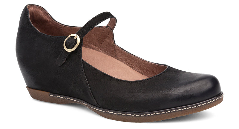 Dansko Loralie black burnished nubuck