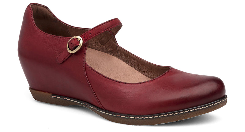 Dansko Loralie red burnished nubuck