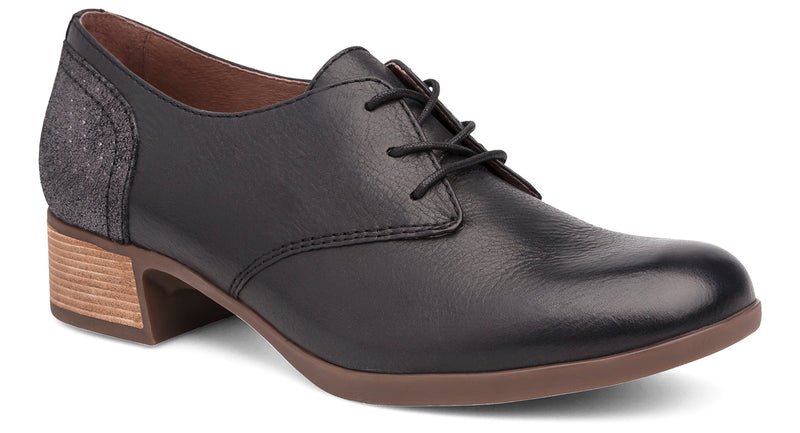 Dansko Louise black burnished nappa leather