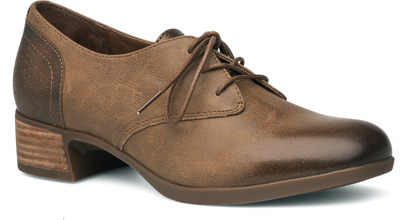 Dansko Louise taupe burnished nappa leather