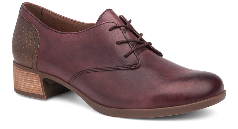 Dansko Louise wine burnished nappa leather