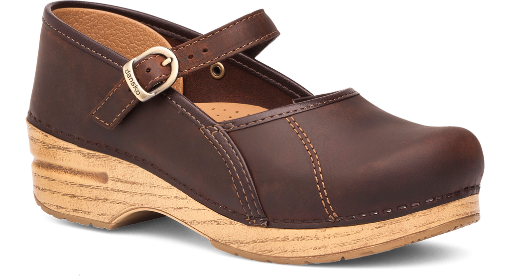 Dansko Marcelle antique brown oiled leather