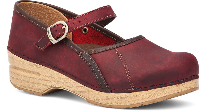 Dansko Marcelle red oiled leather