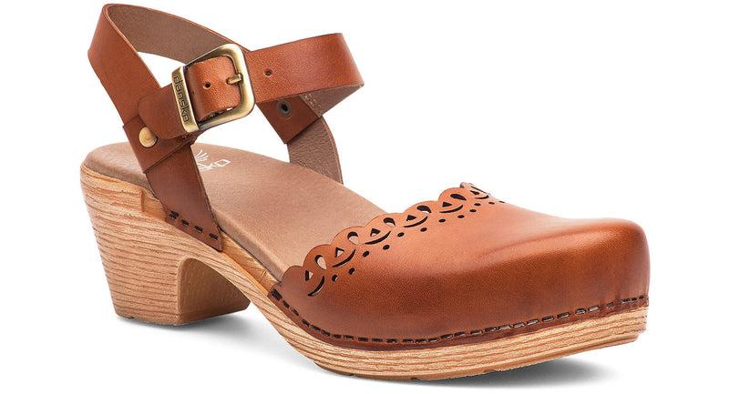 Dansko Marta camel full grain leather