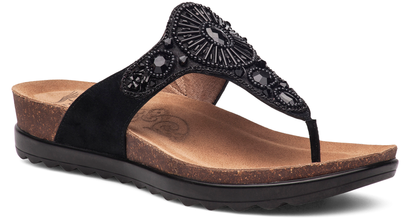 Dansko Pamela black jewelled suede
