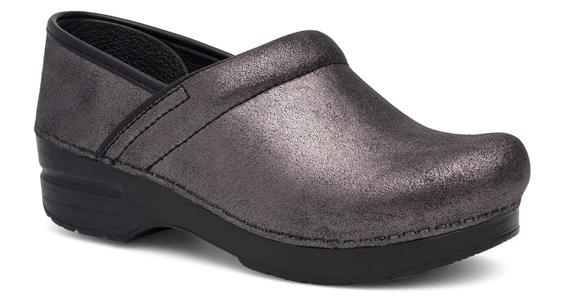Dansko Professional black metallic suede