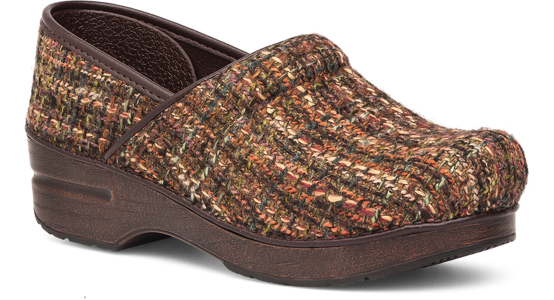 Dansko Professional brown textured fabric