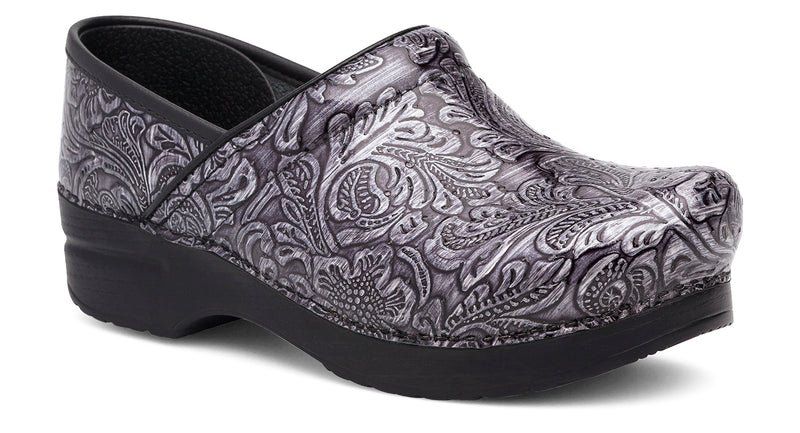 Dansko Professional grey tooled patent leather