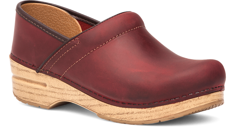 Dansko Professional red oiled leather