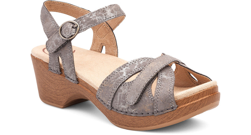 Dansko Season stone metallic leather