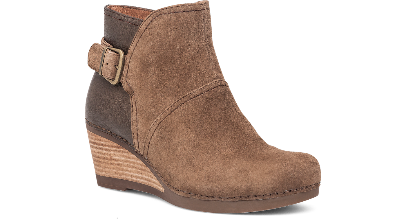 Dansko Shirley Taupe Suede Boot