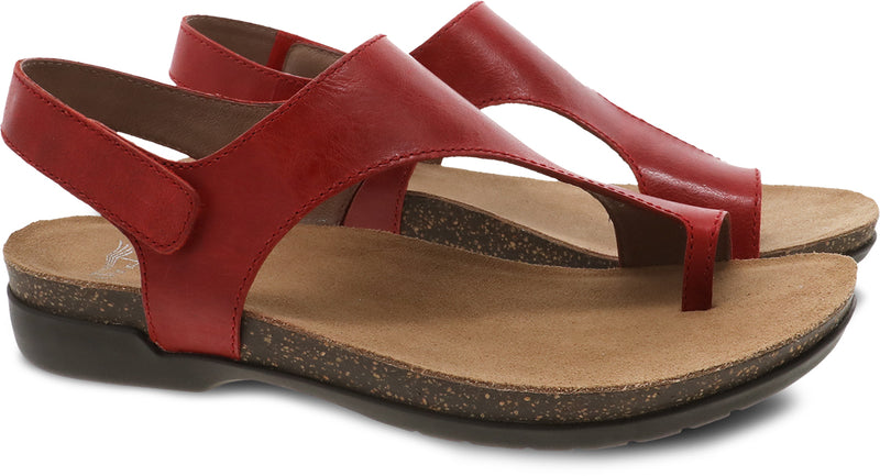 Dansko Reece red waxy burnished