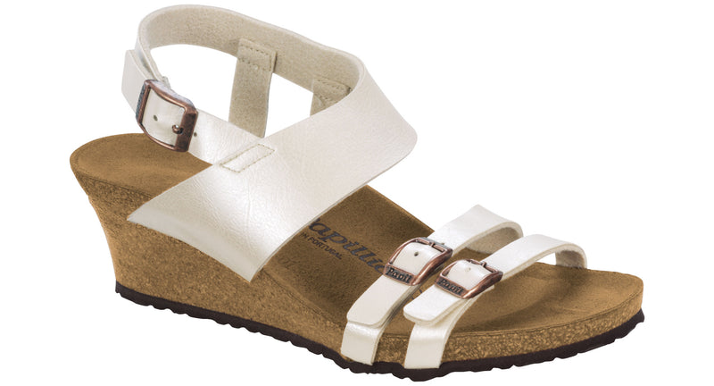 Papillio Ellen graceful pearl white Birko-Flor licensed by Birkenstock