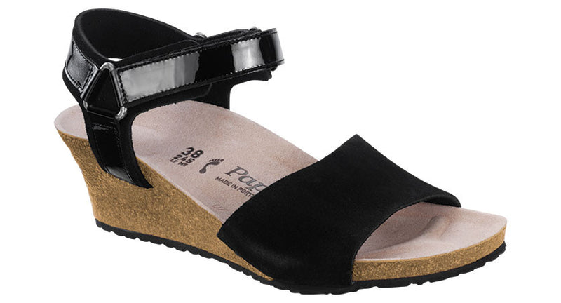 Papillio Eve black suede licensed by Birkenstock