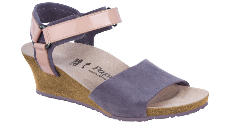 Papillio Eve lilac suede licensed by Birkenstock