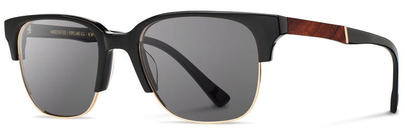 Shwood Newport 52mm Sunglasses black/mahogany