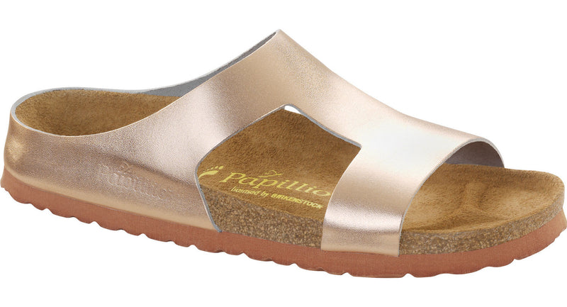 Papillio Charlize metallic copper leather licensed by Birkenstock