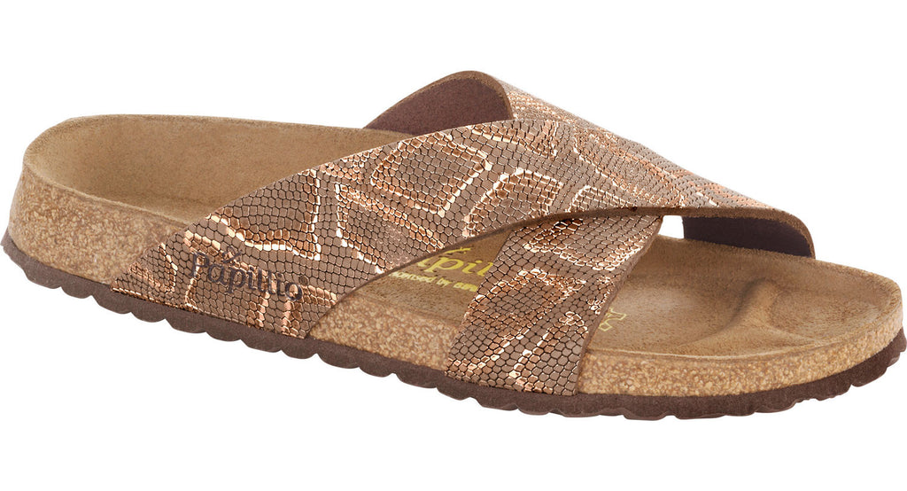 Papillio Daytona royal python brown leather licensed by Birkenstock