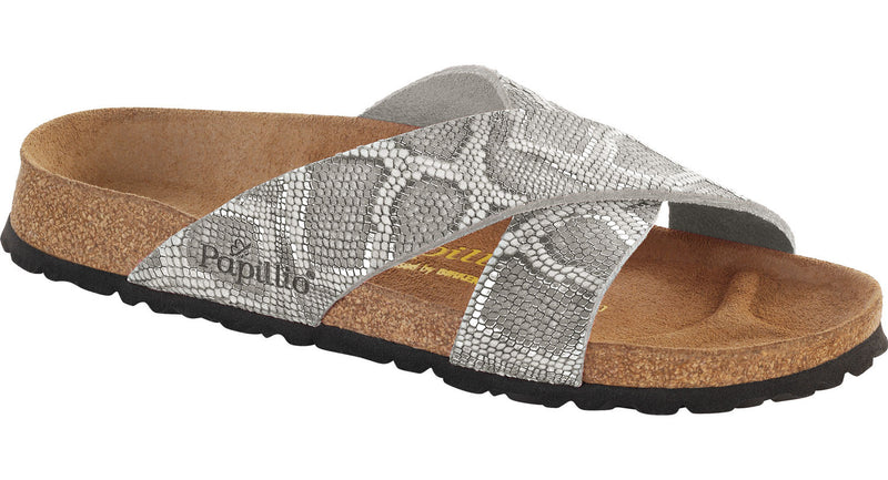 Papillio Daytona royal python gray leather licensed by Birkenstock