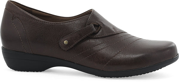Dansko Franny chocolate burnished calf leather