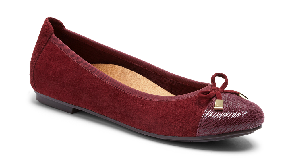 Vionic Spark Minna merlot leather