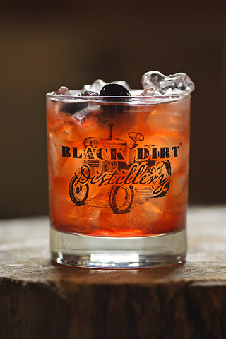 Black Dirt Distillery Rocks Glass