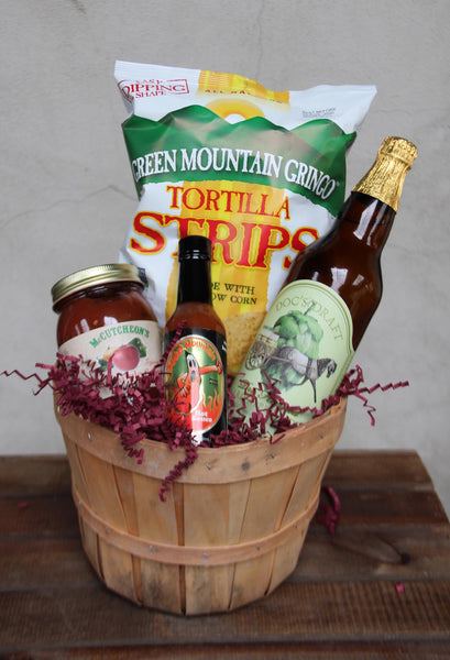 Chips, Salsa & Cider Basket