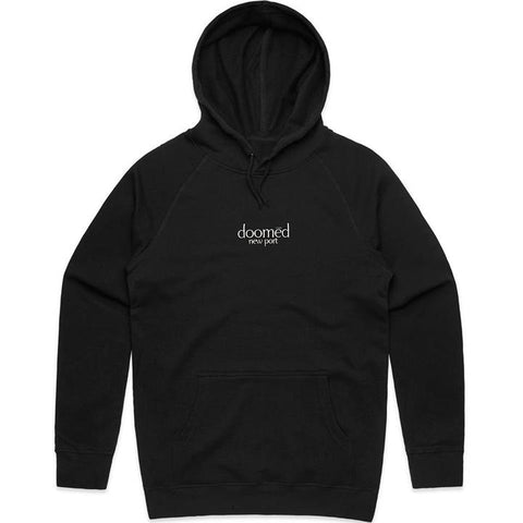 DOOMED NEW PORT HOODIE - BLACK