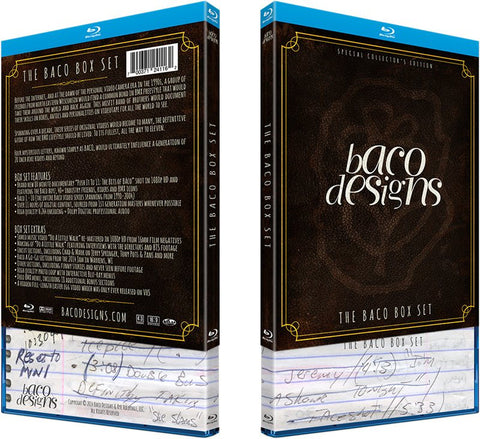 Baco Collector's Edition Blu-Ray Box
