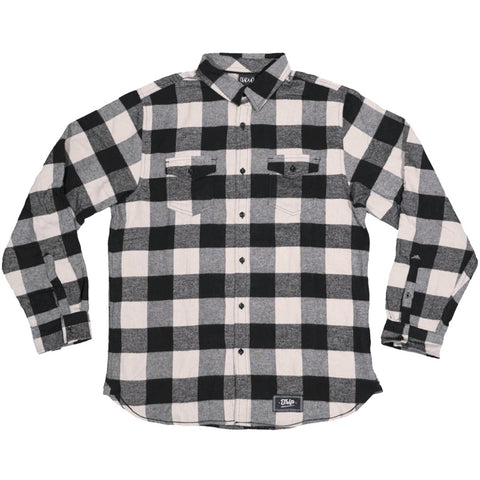 The Trip Buffalo Flannel Shirt - Off White/Black