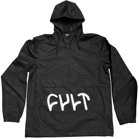 Cult Big Logo Anorak - Black