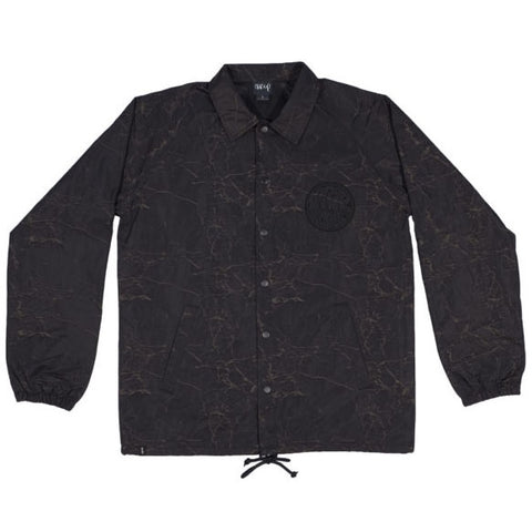 The Trip Crackle Psych Coach Jacket - Black