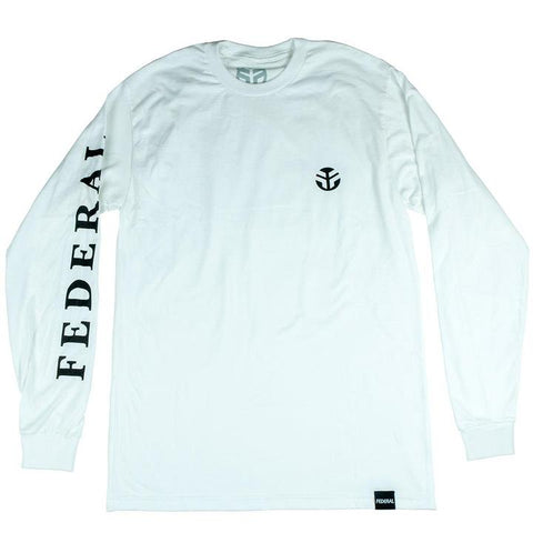 FEDERAL LACEY LONG SLEEVE T-SHIRT - WHITE