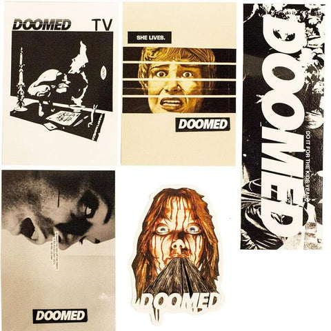 DOOMED VINYL STICKER SET