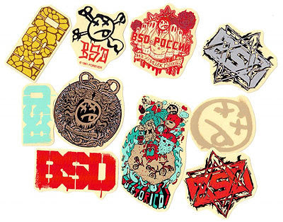 BSD Assorted 2014 Sticker Pack
